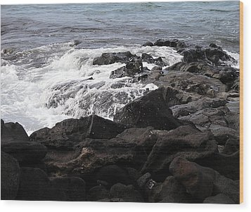 Dramatic Waters Wood Print by Karen Nicholson