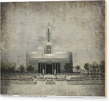 Draper Temple Stand In Holy Places Antique Wood Print