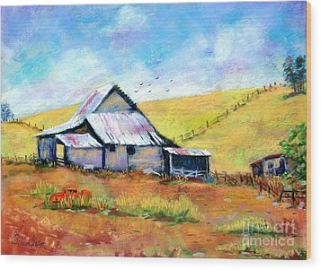 Drapper Valley Barn Wood Print by Bruce Schrader