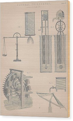 Drawing Of Hydrodynamics Wood Print by Anon