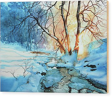 Drawn To The Sun Wood Print by Hanne Lore Koehler