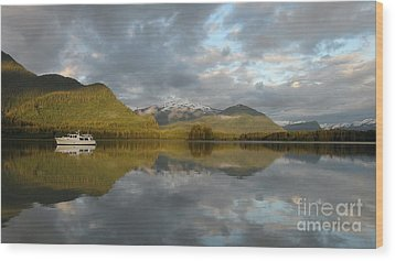 Dream Anchorage Wood Print by Laura  Wong-Rose