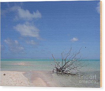 Wood Print featuring the photograph Dream Atoll  by Jola Martysz