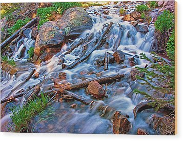 Dream Cascade Wood Print by Brian Kerls