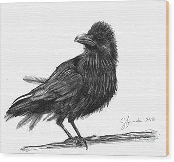 Dream Crow Wood Print by J Ferwerda