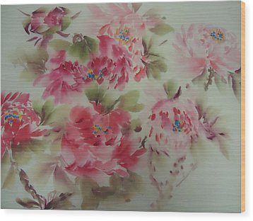 Dream Flower 0725-5 Wood Print by Dongling Sun