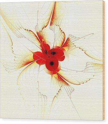 Dream Flower Wood Print by Anastasiya Malakhova