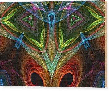 I Dream Flowers Wood Print by Owlspook
