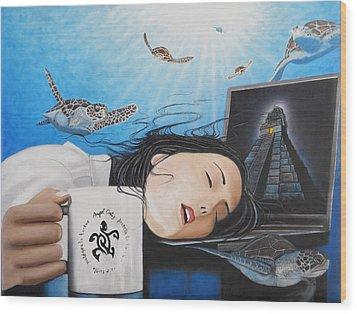 Dream Girl Wood Print by Angel Ortiz