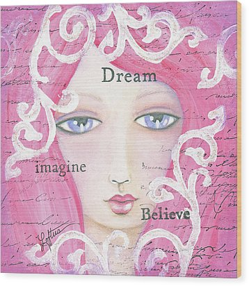 Dream Girl Wood Print by Joann Loftus