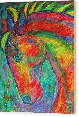 Dream Horse Wood Print by Kendall Kessler