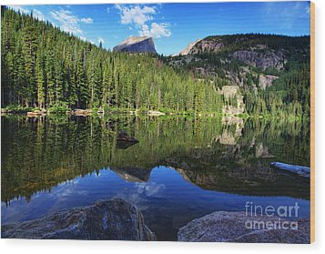Dream Lake Rocky Mountain National Park Wood Print by Wayne Moran