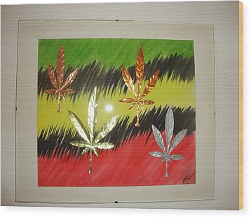 Dream Leaves Three Wood Print by Scott Faucett