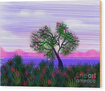 Dream Of Spring Wood Print by Judy Via-Wolff