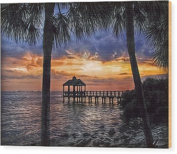 Wood Print featuring the photograph Dream Pier by Hanny Heim