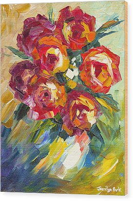 Dream Roses Wood Print by Jessilyn Park
