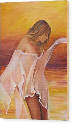 Wood Print featuring the painting Dream by Sheri  Chakamian