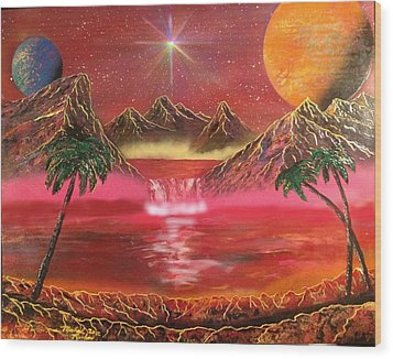 Wood Print featuring the painting Dream World by Michael Rucker