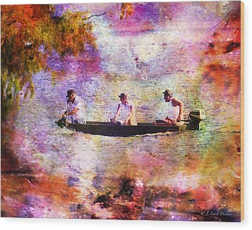 Dreaming About Fishing Wood Print by J Larry Walker