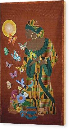 Dreaming Butterflies Wood Print by Linda Egland