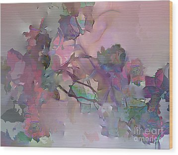 Dreaming Of A Rose Garden Wood Print by Ursula Freer