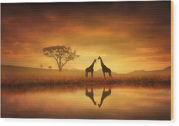 Dreaming Of Africa Wood Print by Jennifer Woodward