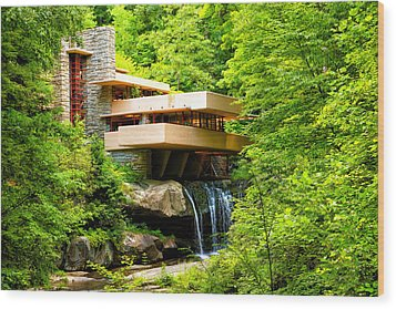 Dreaming Of Fallingwater 3 Wood Print by Rachel Cohen