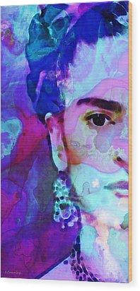 Dreaming Of Frida - Art By Sharon Cummings Wood Print by Sharon Cummings