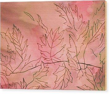 Dreaming Of Leaves Wood Print by Anne-Elizabeth Whiteway