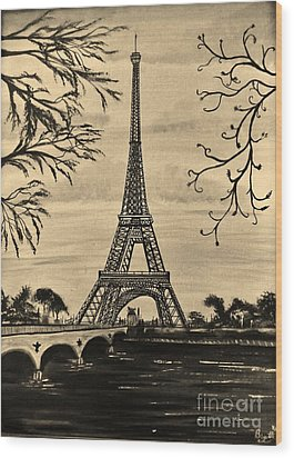 Dreaming Of Paris 2 Wood Print by Brigitte Emme