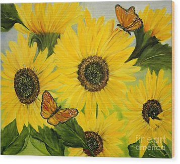 Wood Print featuring the painting Dreaming Of Summer by Carol Sweetwood