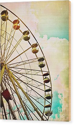 Dreaming Of Summer - Ferris Wheel Wood Print by Colleen Kammerer