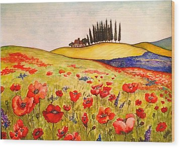 Dreaming Of Tuscany Wood Print