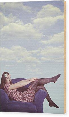 Dreaming To Fly Wood Print by Joana Kruse
