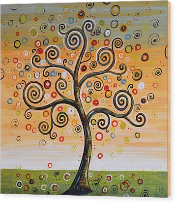 Dreaming Tree Wood Print by Amy Giacomelli