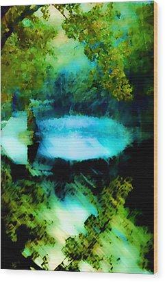 Wood Print featuring the digital art Dreamland by Catherine Lott