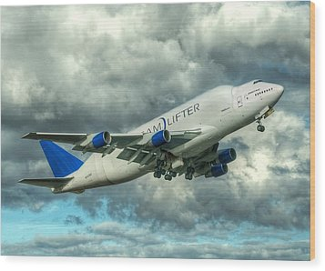 Dreamlifter Takeoff Wood Print by Jeff Cook