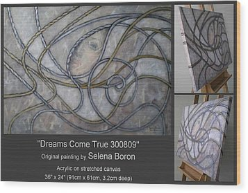 Wood Print featuring the painting Dreams Come True 300809 by Selena Boron