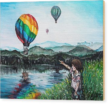 Wood Print featuring the painting Dreams Do Come True by Shana Rowe Jackson