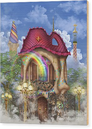 Dreams Of Gaudi Wood Print by Ciro Marchetti