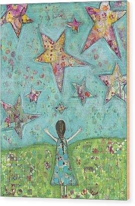 Dreams On Stars Wood Print