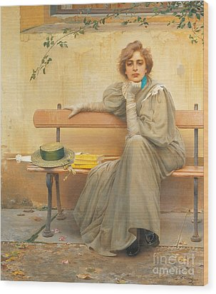 Dreams  Wood Print by Vittorio Matteo Corcos