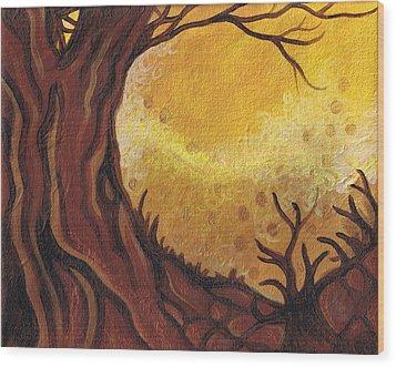 Dreamscape In Fall Tones #1 Of 4 Wood Print by Laura Noel