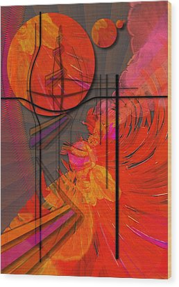 Dreamscape 06 - Tangerine Dream Wood Print by Mimulux patricia no No