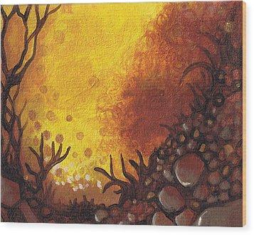 Dreamscape In Fall Tones #3 Of 4 Wood Print by Laura Noel