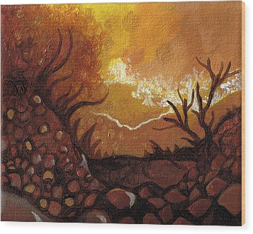 Dreamscape In Fall Tones #4 Of 4 Wood Print by Laura Noel