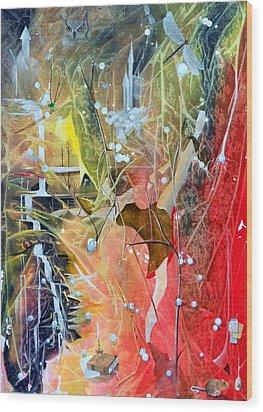 Dreamscape Of Aaralyn Wood Print by Jackie Mueller-Jones