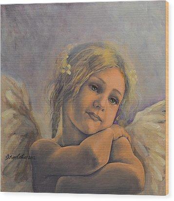 Dreamy Angel Wood Print by Dorina  Costras