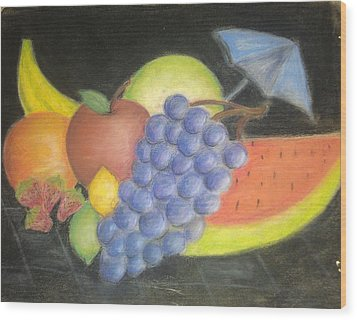 Dreamy Fruit Wood Print by Tracy Lawrence