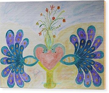 Dreamy Heart Wood Print by Sonali Gangane